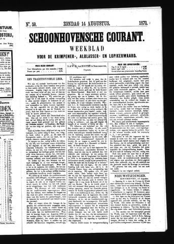Schoonhovensche Courant 1870-08-14