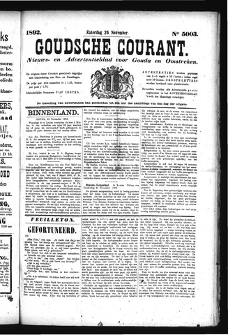 Goudsche Courant 1892-11-26