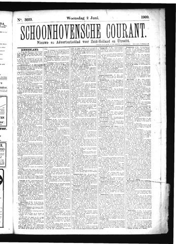 Schoonhovensche Courant 1909-06-02