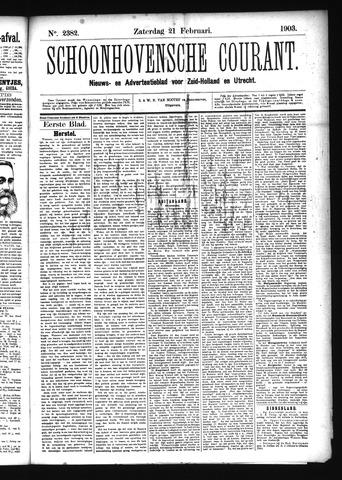 Schoonhovensche Courant 1903-02-21