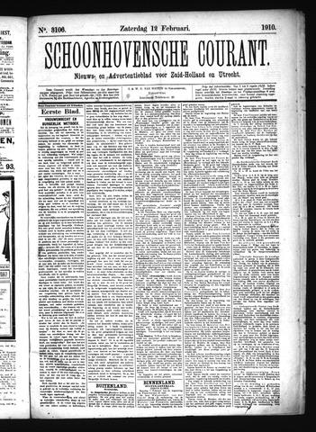 Schoonhovensche Courant 1910-02-12