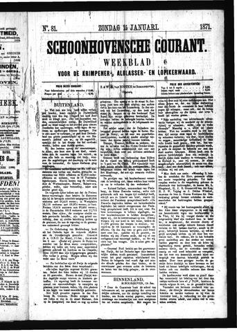 Schoonhovensche Courant 1871-01-15