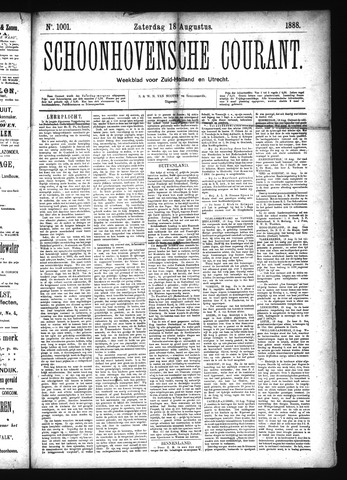 Schoonhovensche Courant 1888-08-18