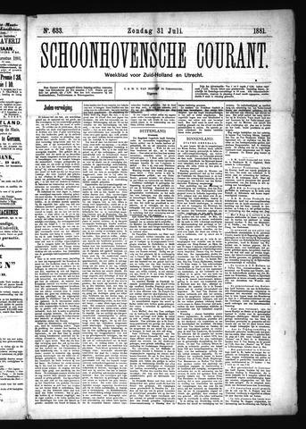 Schoonhovensche Courant 1881-07-31