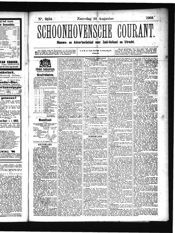 Schoonhovensche Courant 1903-08-22