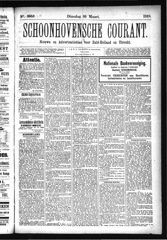 Schoonhovensche Courant 1918-03-26