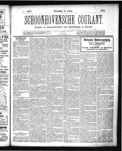 Schoonhovensche Courant 1918-06-18