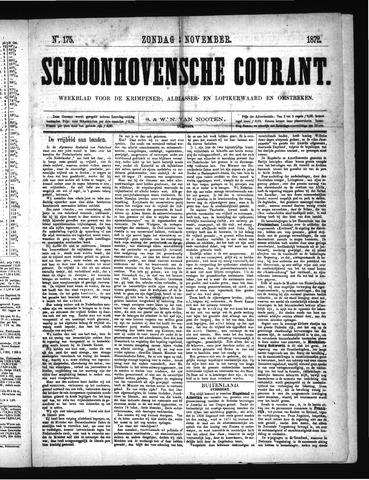 Schoonhovensche Courant 1872-11-03