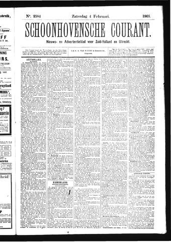 Schoonhovensche Courant 1905-02-04