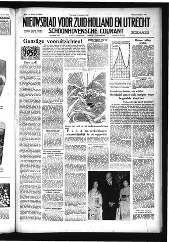 Schoonhovensche Courant 1958-12-31