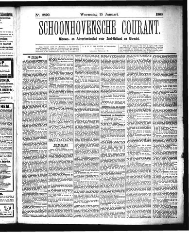 Schoonhovensche Courant 1908-01-15
