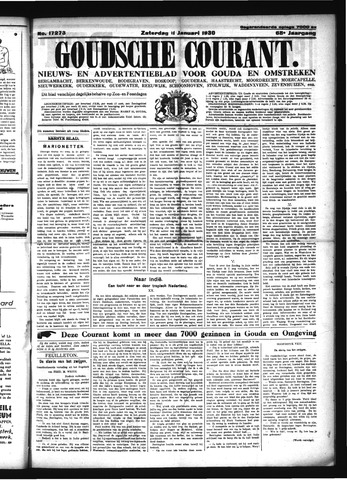 Goudsche Courant 1930-01-11