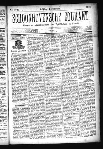 Schoonhovensche Courant 1916-02-04