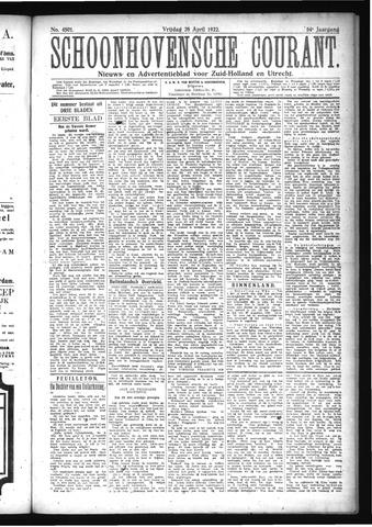Schoonhovensche Courant 1922-04-28