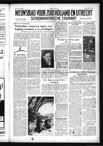 Schoonhovensche Courant 1958-05-14