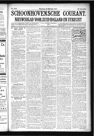 Schoonhovensche Courant 1927-02-28