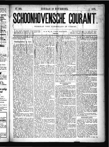 Schoonhovensche Courant 1876-11-19