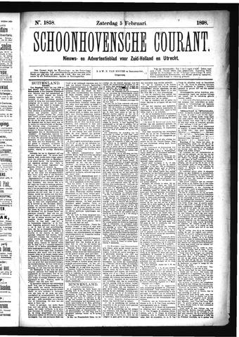 Schoonhovensche Courant 1898-02-05