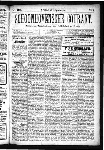 Schoonhovensche Courant 1919-09-26
