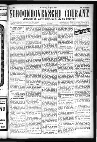 Schoonhovensche Courant 1924-06-18