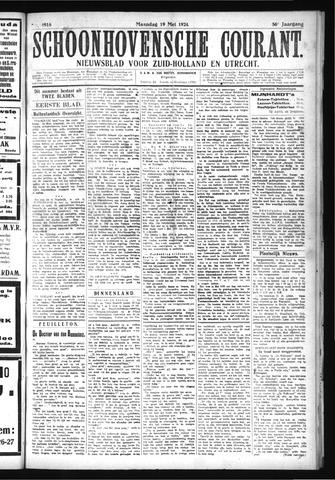 Schoonhovensche Courant 1924-05-19