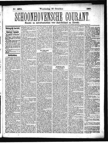 Schoonhovensche Courant 1908-10-28