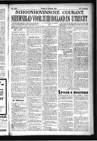 Schoonhovensche Courant 1927-10-07