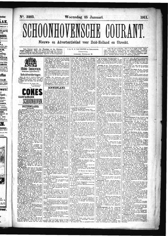 Schoonhovensche Courant 1911-01-25