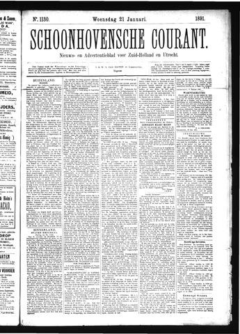 Schoonhovensche Courant 1891-01-21