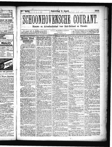 Schoonhovensche Courant 1913-04-05