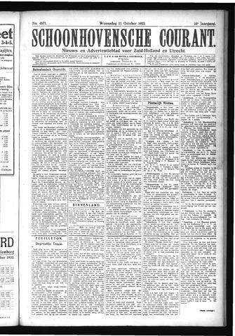 Schoonhovensche Courant 1922-10-11