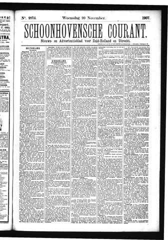 Schoonhovensche Courant 1907-11-20