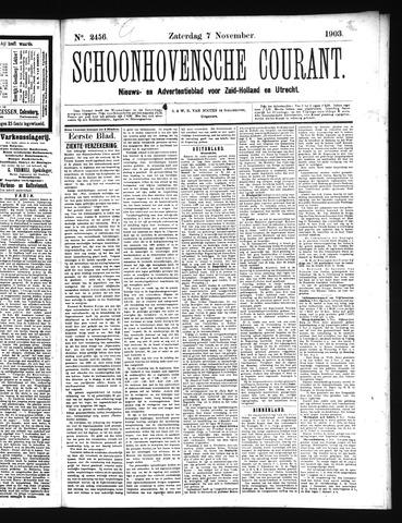 Schoonhovensche Courant 1903-11-07