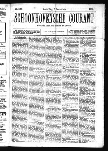 Schoonhovensche Courant 1884-12-06
