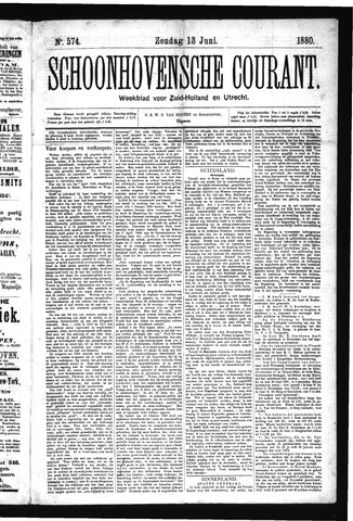 Schoonhovensche Courant 1880-06-13