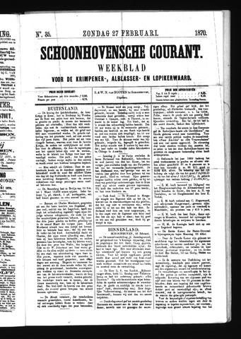 Schoonhovensche Courant 1870-02-27
