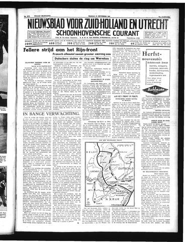 Schoonhovensche Courant 1939-09-15
