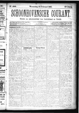 Schoonhovensche Courant 1921-02-23