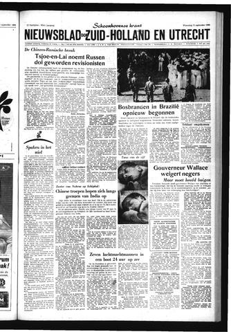 Schoonhovensche Courant 1963-09-11