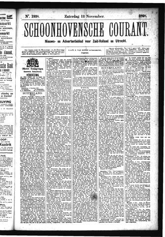 Schoonhovensche Courant 1898-11-12