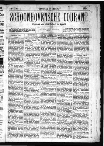 Schoonhovensche Courant 1884-03-15