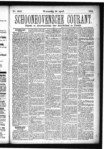 Schoonhovensche Courant 1914-04-29