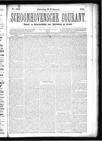Schoonhovensche Courant 1895-02-16