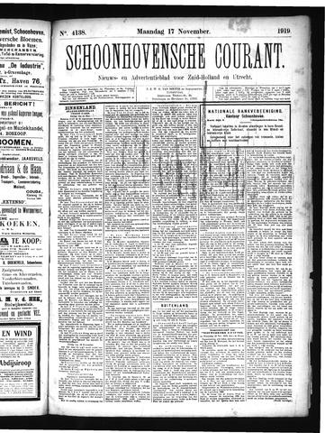 Schoonhovensche Courant 1919-11-17