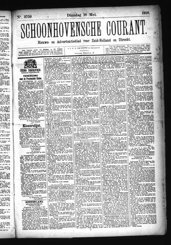 Schoonhovensche Courant 1916-05-16