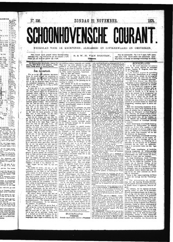 Schoonhovensche Courant 1875-11-21