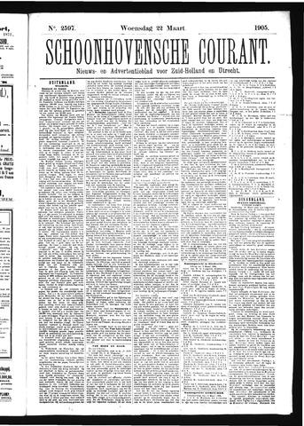 Schoonhovensche Courant 1905-03-22