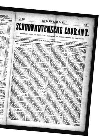 Schoonhovensche Courant 1873-02-09