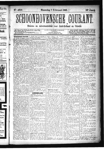 Schoonhovensche Courant 1921-02-07