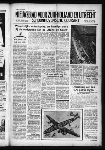 Schoonhovensche Courant 1958-08-15
